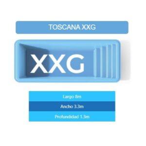 Pileta Toscana XXG 8.00×3.30×1.30 mts
