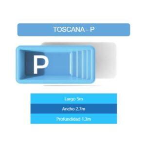 Pileta Toscana P 5.00×2.70×1.30 mts