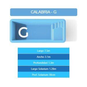 Pileta Calabria G 7.50×3.10×1.30 mts