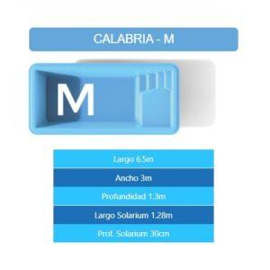 Pileta Calabria M 6.50×3.00×1.30 mts
