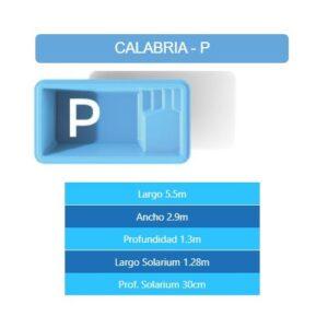 Pileta Calabria P 5.50×2.90×1.30 mts